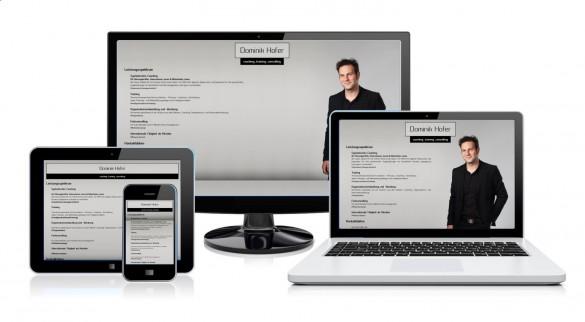 Dominik Hofer - Mini-Website Multiscreen